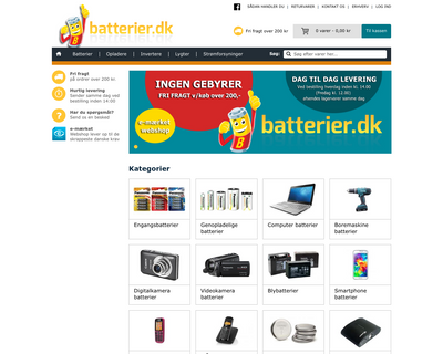batterier.dk website