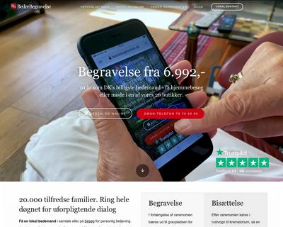 bedrebegravelse.dk website