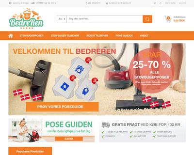 bedreren.dk website