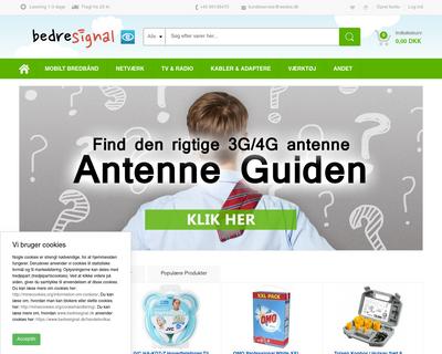 bedresignal.dk website