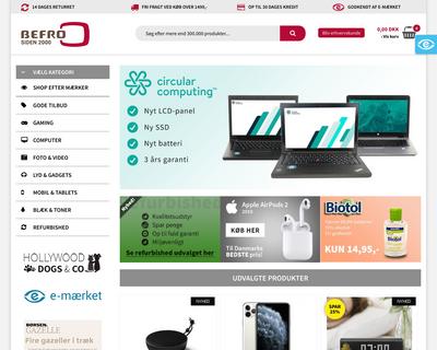 befro.dk website