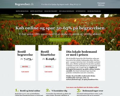 begravelser.dk website