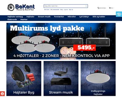 bekent.dk website