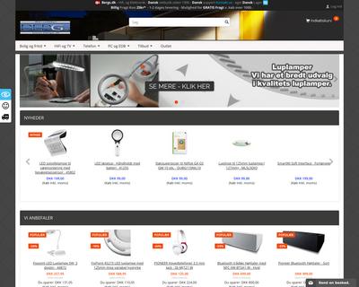 www.bergs.dk website