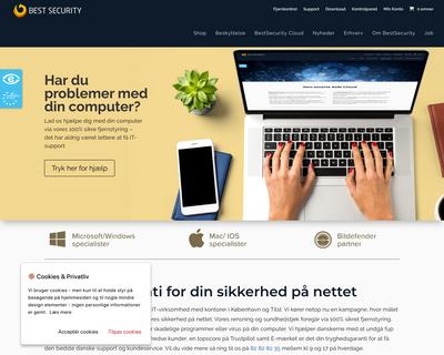 bestsecurity.dk website