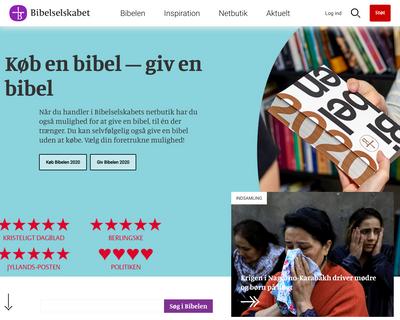 bibelselskabet.dk website