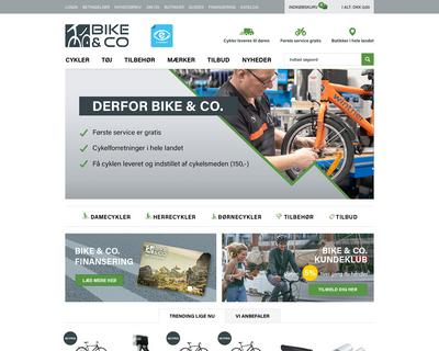 bikeandco.dk website