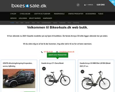 bikes4sale.dk website
