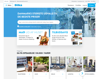 bilka.dk website