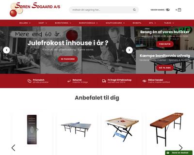 billard.dk website
