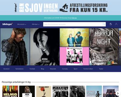 billetlugen.dk website