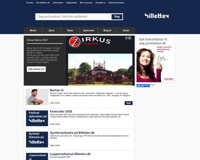 billetten.dk website