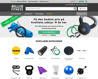 billig-fitness.dk website