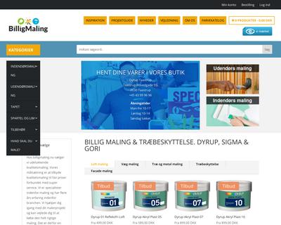 billigmaling.nu website