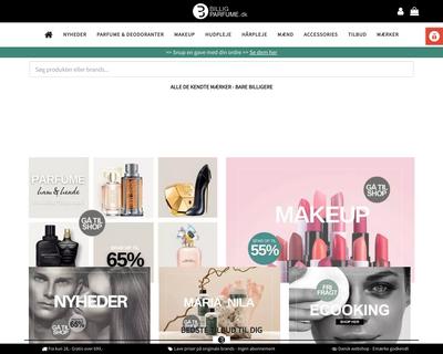 billigparfume.dk website