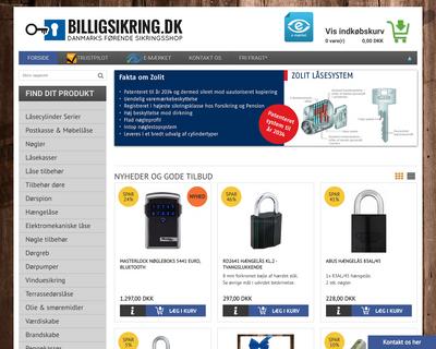 billigsikring.dk website