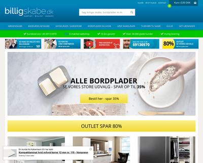 billigskabe.dk website