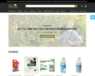 www.billigskadedyr.dk website