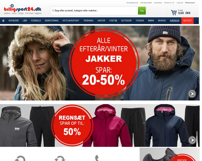 billigsport24.dk website