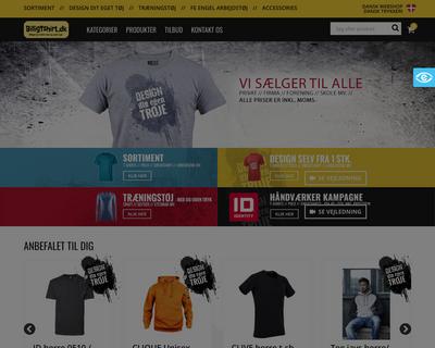 billigtshirt.dk website