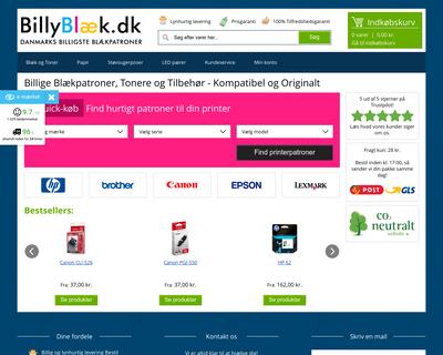 www.billyblaek.dk website