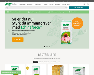 bioforce.dk website
