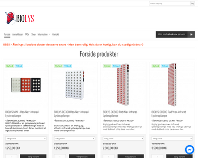 biolys.dk website