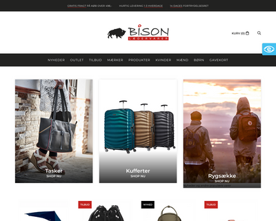 bison-webshop.dk website