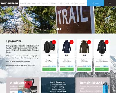 bjergkaeden.dk website