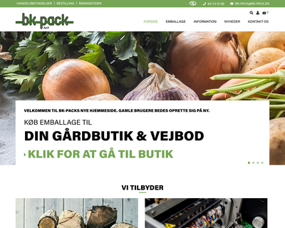 bk-pack.dk website