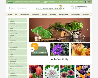 blomsterverden.dk website