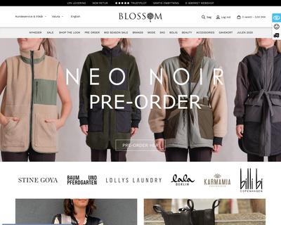 www.blossom.dk website