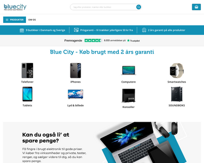 bluecity.dk website