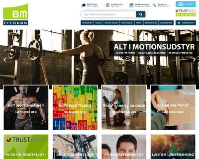 bm-fitness.dk website