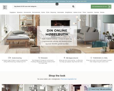 boboonline.dk website