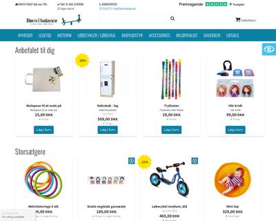 www.boernibalance.dk website