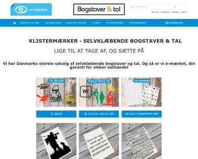 bogstaverogtal.dk website