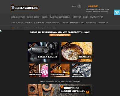 boltelageret.dk website