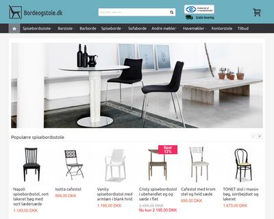 bordeogstole.dk website