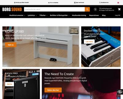 borgsound.dk website