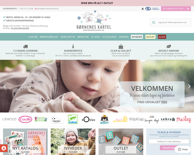 borneneskartel.dk website