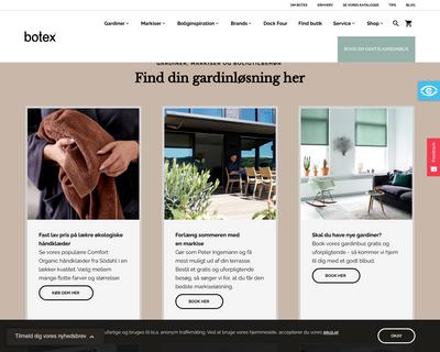 botex.dk website
