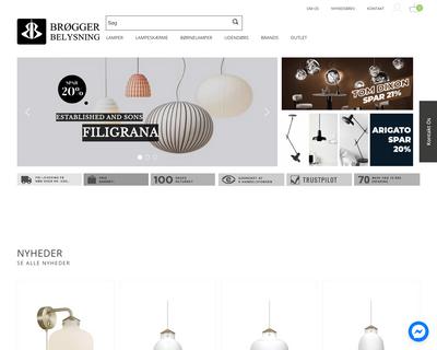 broggerbelysning.dk website