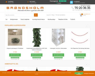 brondsholm.dk website
