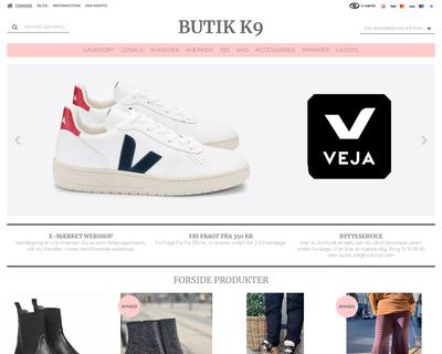 butikk9.dk website