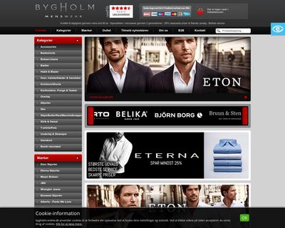 bygholm-online.dk website