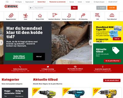 www.bygma.dk website