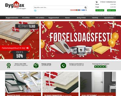 bygmax.dk website
