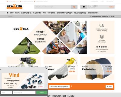 bygxtra.dk website