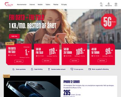 callme.dk website